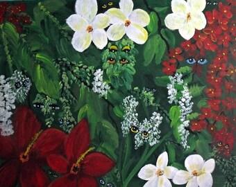 Flower Watcher Painting