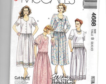 McCall's Misses' Two Piece Dress Pattern 4688