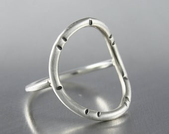 ON SALE TODAY Circle Ring, Sterling Silver Ring