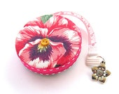 Measuring Tape Pansy Flowers Retractable Tape Measure