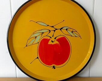 vintage fruit tray Japan yellow