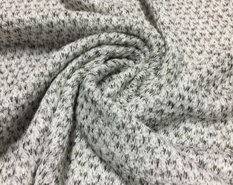 Speckled Sweater Knit Fabric 1-1/4 Yard