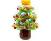 Ready to ship Margo lampwork beads Christmas tree