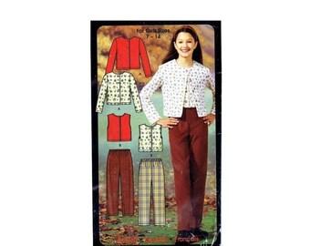 SALE Girls Pants Knit Tops Simplicity 5869 Sewing Pattern Size 7 - 8 - 10 - 12 - 14 Uncut