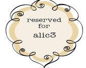RESERVED listing for Allison