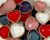 Single Itty Bitty Dippy HEART Dish- PURPLE