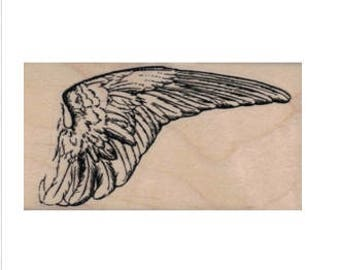 bird Wing   rubber stamps place cards gifts  number 20053  unmounted, mounted or cling stamp