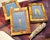 Healing with the Angels Oracle Cards - 44 Card Deck and Book Kit with Hand Made Pouch & Mini White Sage Smudge Stick