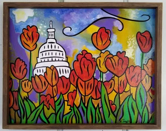 Hope for the Flowers 2 - Original painting by Joel Traylor