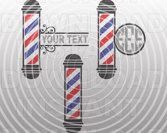 Barber Pole SVG File,Barber Shop SVG,Barbershop svg -Vector Clip Art for Commercial & Personal Use- Cricut,Silhouette,Cameo,Vinyl Decal