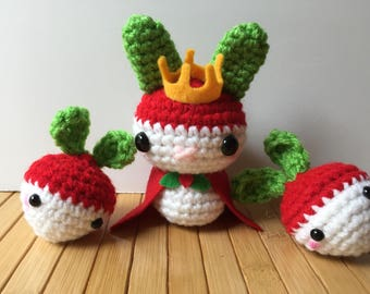 The Radish Queen Moon Bun - Amigurumi Bunny Rabbit Doll