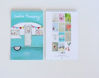 2018 calendar   happy creatures   limited edition