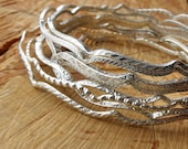 Set of Three Heavy Square Scroll Bangles 2.75 inches