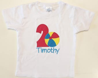 Beach Ball 1st Birthday Bodysuit Shirt or Outfit- Personalized