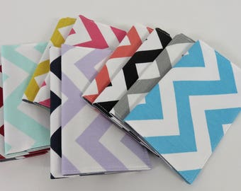 Checkbook Case Cheque Cover Receipts Money Holder - Choose your Chevron - Zig Zag Color