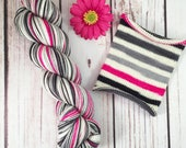 Caf-Pow!: Hand-dyed gradient self-striping sock yarn, 80/20 SW merino/nylon