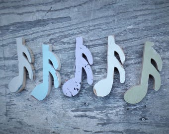 Music Notes Wall Art, 5 Sixteenth Notes, Reclaimed Wood Decor, Music Decor, Music Wall Art, Girls Nursery Decor, Rustic Wall Decor