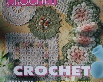 Crochet Patterns Magic Crochet 120 June 1999 Bedspreads Pillows Hat Tablecloths Afghan Bruges Lace Doily Paper Original NOT a PDF