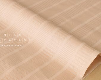 Japanese Fabric - yarn dyed dobby columns - pale peach - 50cm