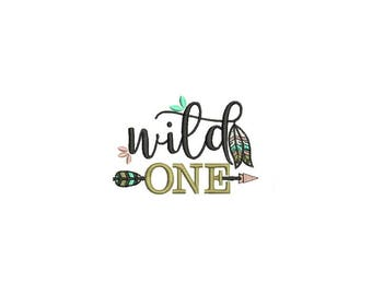 Machine Embroidery wild ONE Machine Embroidery File design 4x4 inch hoop