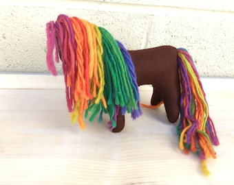 Chocolate Rainbow Wild Pony Horse Unicorn