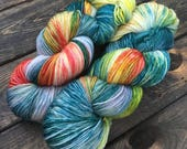 Hand Dyed Sock Yarn - Classic Sock - 75/25 Superwash Merino Wool/Nylon - 100g skein - Nahanni River
