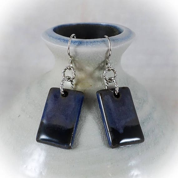 Rothko Inspired - Art Tile Earrings 4