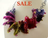 S A L E - Yarn Spiral Necklace Knitting Kit - Marrakech