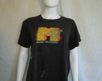 Closing Shop 40%off SALE MTV Music Television 80s Screen Stars t shirt Authentic Original