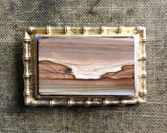 Vintage Picture Jasper Belt Buckle