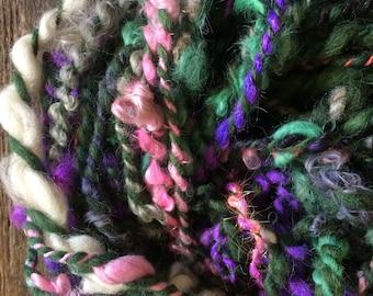 Ursula the Sea-Witch, wild art yarn, 36 yards, multicolored textured art yarn, handspun, bulky wild yarn, JUMBO yarn