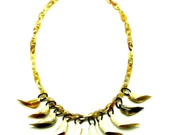 Horn Chain Necklace - Q12800