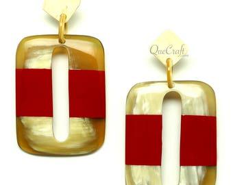 Horn & Lacquer Earrings - Q12853-R