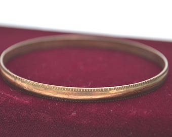 Copper Bangle, Vintage Bangle, Copper Bracelet, Bangle, 1970's Bracelet, Vintage Bracelet, Thin Copper Bangle