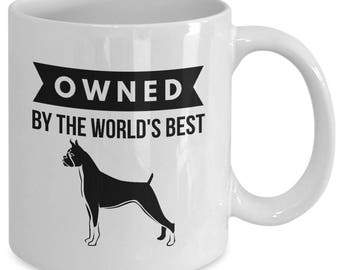 OWNED by BOXER Coffee Mug for Dog Lovers Boxers