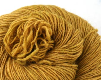 Olana fingering weight cormo alpaca angora blend yarn 300yds/274m 2oz/57g Harvest Gold