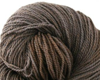 Mohonk Hand Dyed sport weight NYS Wool 370 yds 4oz Charred Coal