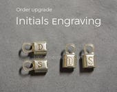 Initials Engraving for Cotton cord bracelets and some leather bracelets