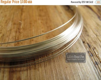 Summer SALEabration - Silver 22 Gauge Half Hard, Round Wire, Sterling Silver Wire - 925 Wire By The Foot, Wire Wrapping Jewelry