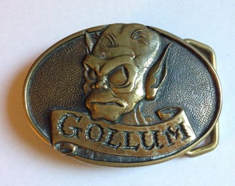 Vintage Gollum Lord of the Rings Brass Buckle