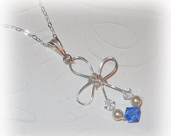 20% OFF Cross Pendant Necklace With Birthstone of Your Choice