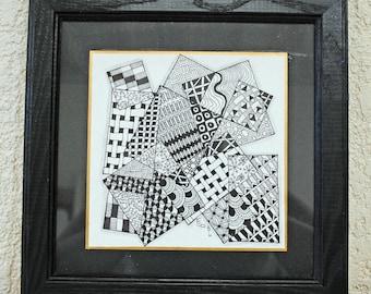 City Doodle - zentangle art