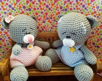 AMIGURUMI TEDDY BEARS - The Twins