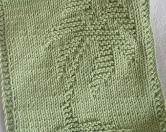 PATTERN - dishcloth / washcloth knitting pattern - palm
