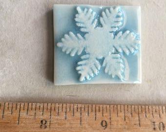 Mosaic Tile Snowflake Porcelain Ceramic Specify Choice in Box