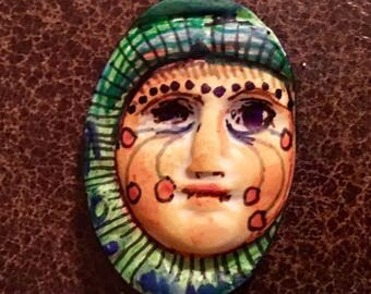 Handmade clay face doll parts head  jewelry craft supplies  handmade cabochon   faces   polymer