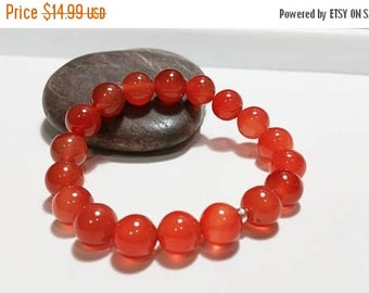 ON-SALE Carnelian Bracelet - Chakra Bracelet, Yoga Bracelet, Gemstone, Semi Preciuos Stone Bracelet, Healing Bracelet