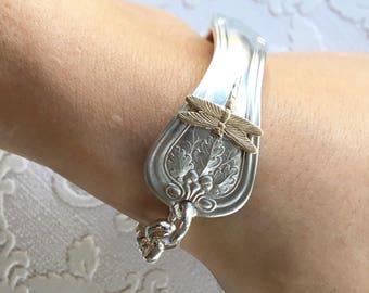 Simple Dragonfly Spoon Handle Bracelet