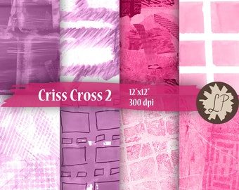DIY PRINTABLE Paper, criss cross scrapbook paper, textural painted squares, Commercial Use -  blog backgrounds, etsy banners by LIZPLUMMER