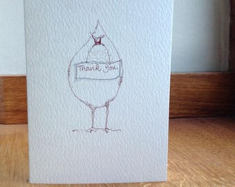 Silly Chicken Thank You card